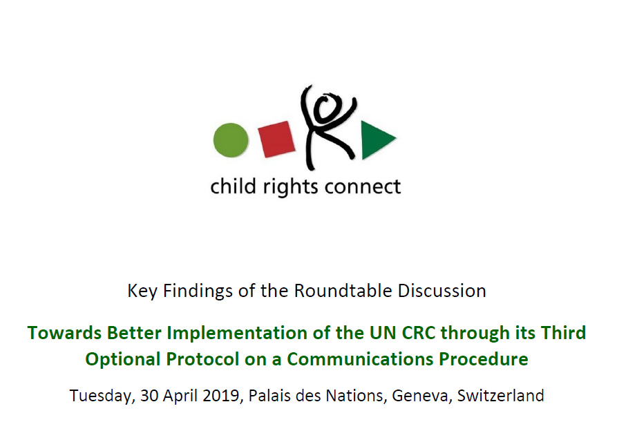Towards a better implementation of the UNCRC through its Third Optional Protocol on a Communications Procedure